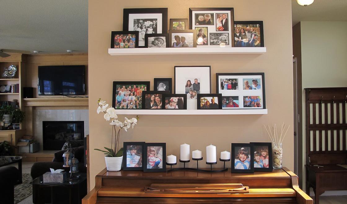 photo wall shelves