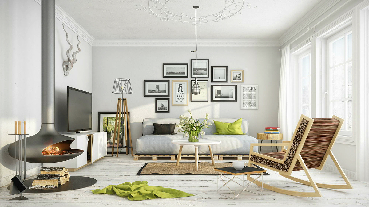 25 Bright Living Room Design Ideas