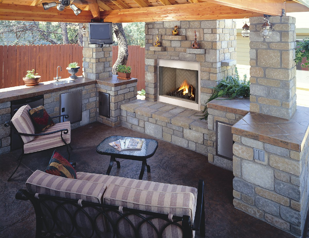 Backyard Fireplace Designs find this pin and more on houseremodel ideas outdoor diy outdoor fireplace Outdoor Fireplace