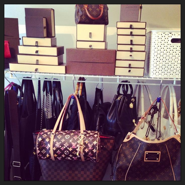 Louis Vuitton bag hooks to design your closet