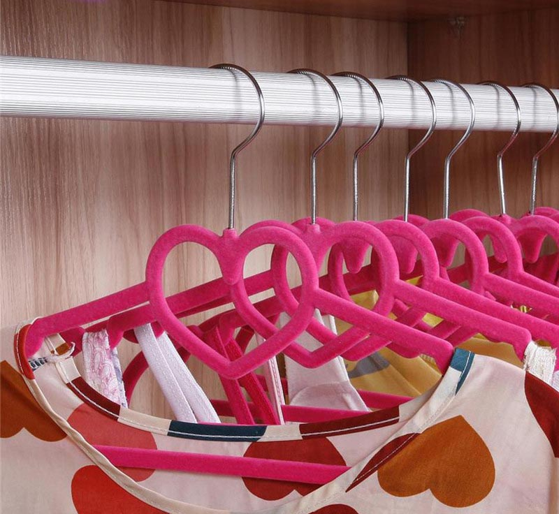 Design your closet with thin hangers