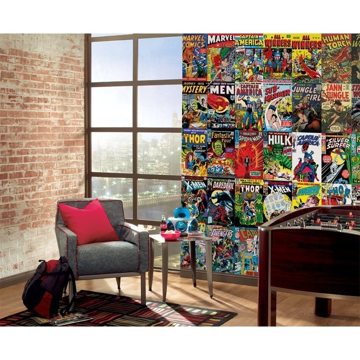 Man cave ideas for your ultimate home redecoration - Marvel comics decor ...