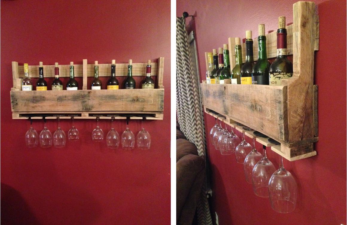 man cave wine rack